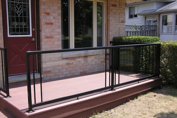 Custom Glass/Picket Rail in Flat Black