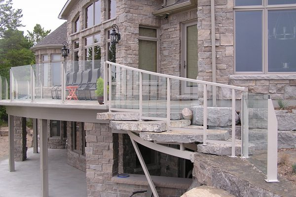 Custom Curved Beach Rail * Stair Rail